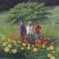 olej na plátně 70 x 70 cm