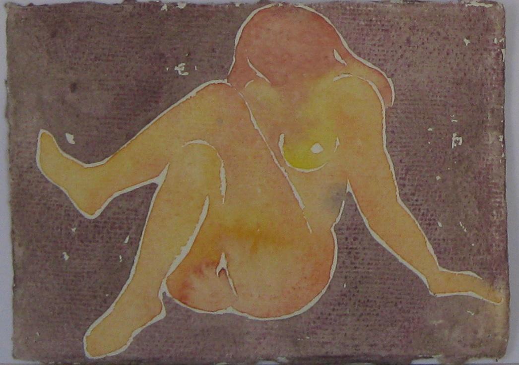 akvarel 10.5 x 15 cm 4500 Kč
