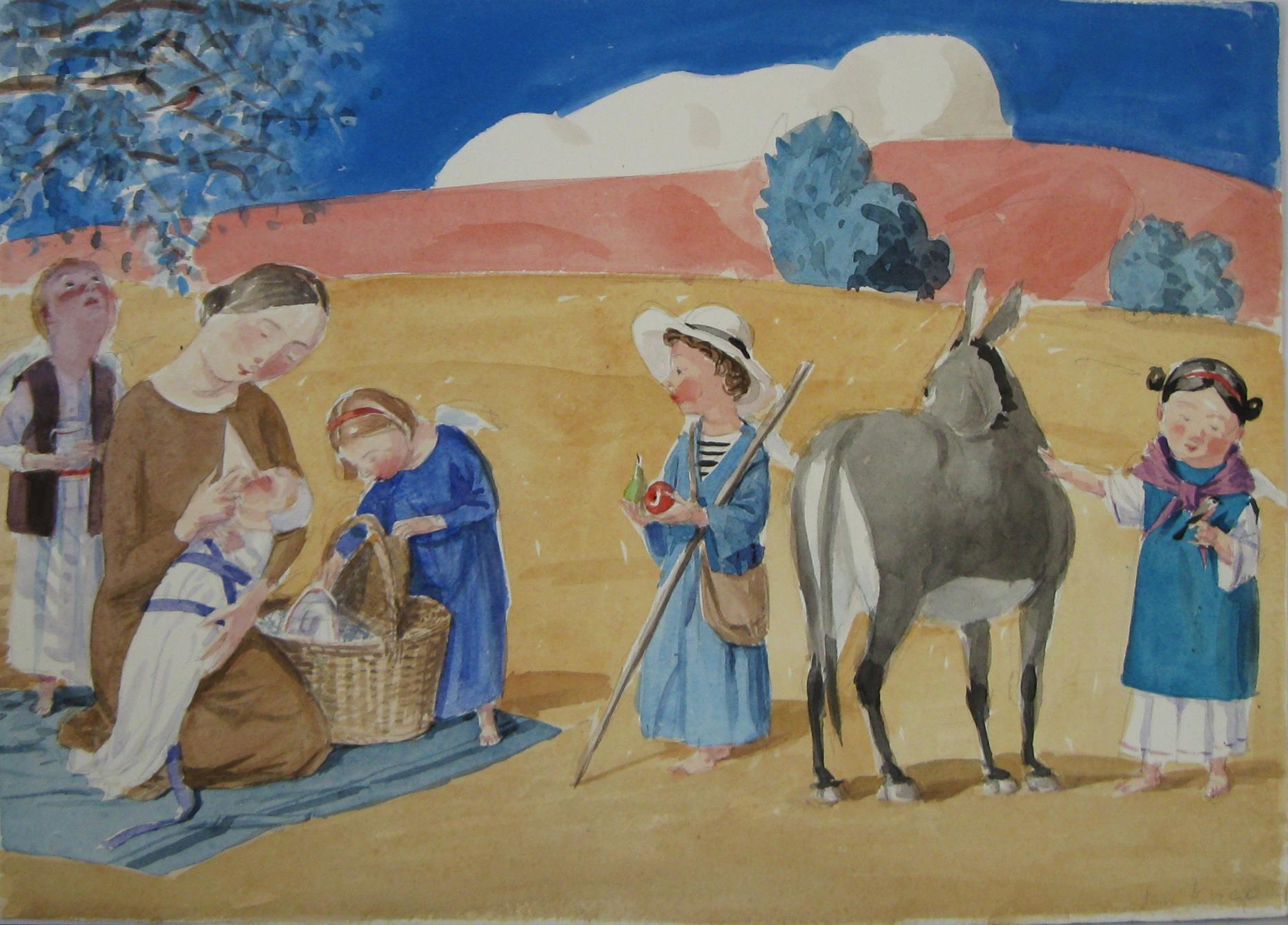 akvarel 43 x 60 cm 50 000 Kč