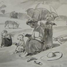 kresba 42 x 59 cm 25 000 Kč
